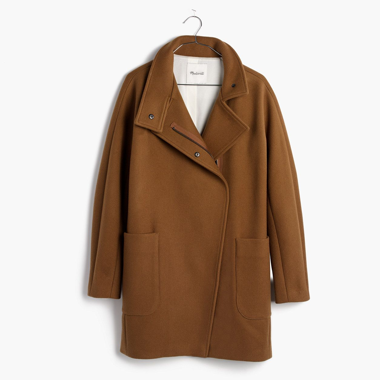 Madewell City Grid Coat In Burnished Cedar Madewell coat