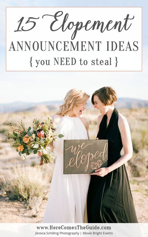 15 Elopement Announcement Ideas You Need To Steal In 2020 Elopement Announcement Elope Wedding Elopement Reception