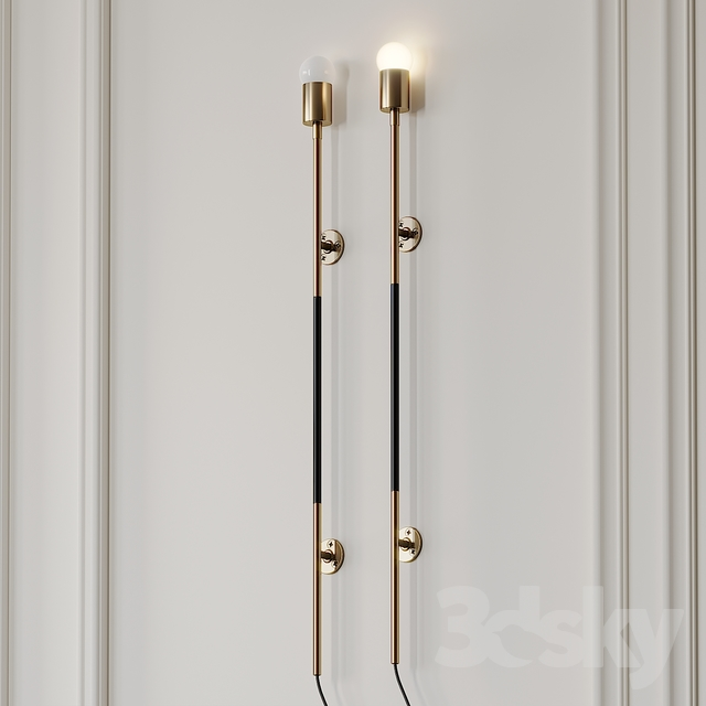 3d Models Ceiling Light Leather Wrapped Linear Wall Sconce By Katy Skelton Wall Sconces Katy Skelton Sconces