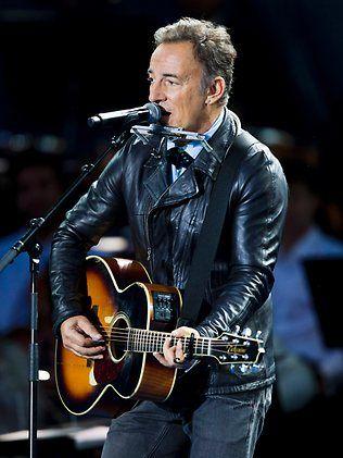 Bruce at the memorial concert in norway