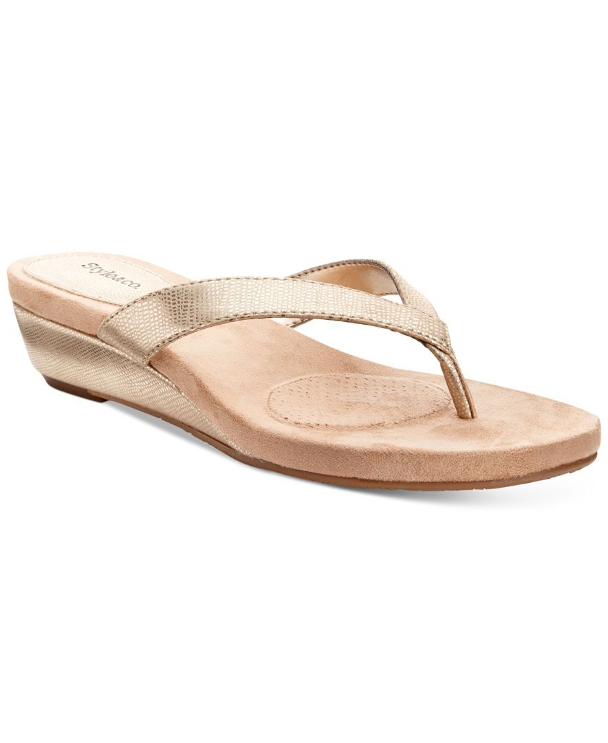 d5a73fb38 Style   Co. Haloe Wedge Thong Sandals