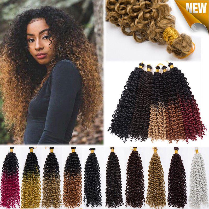 Kinky Water Wave Crochet Braids Marley Bob Ombre Braiding Hair