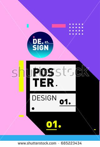 Vector Poster Template Cover Design Future Geometric Graphic Art