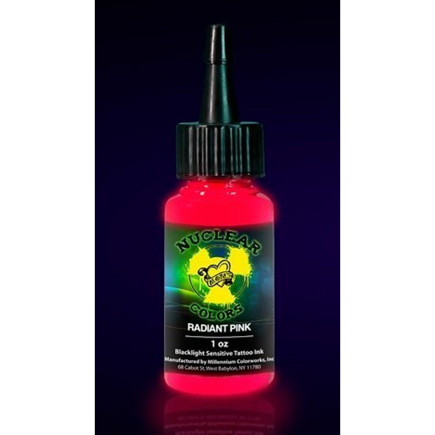 Moms Nuclear Colors Radiant Pink Neon Black Light Tattoo Ink 1 2oz Supply See This Great Product T Black Light Tattoo Ink Tattoo Tattoo Supplies