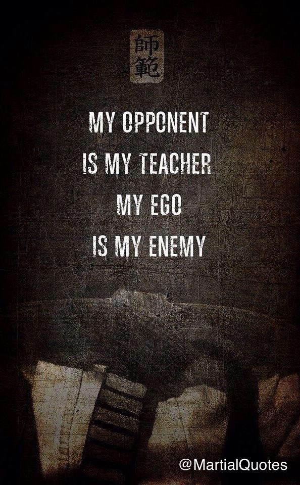 Ego is my Enemy Poster Karate quotes and Google