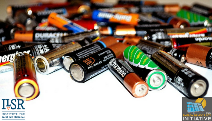 Should Energy Storage Share The Tax Credits For Renewable Energy Battery Recycling Battery Hacks Science And Technology News