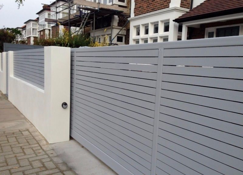 modern gates driveway sliding gates remote controlled gates wood composite meranti gates. Black Bedroom Furniture Sets. Home Design Ideas