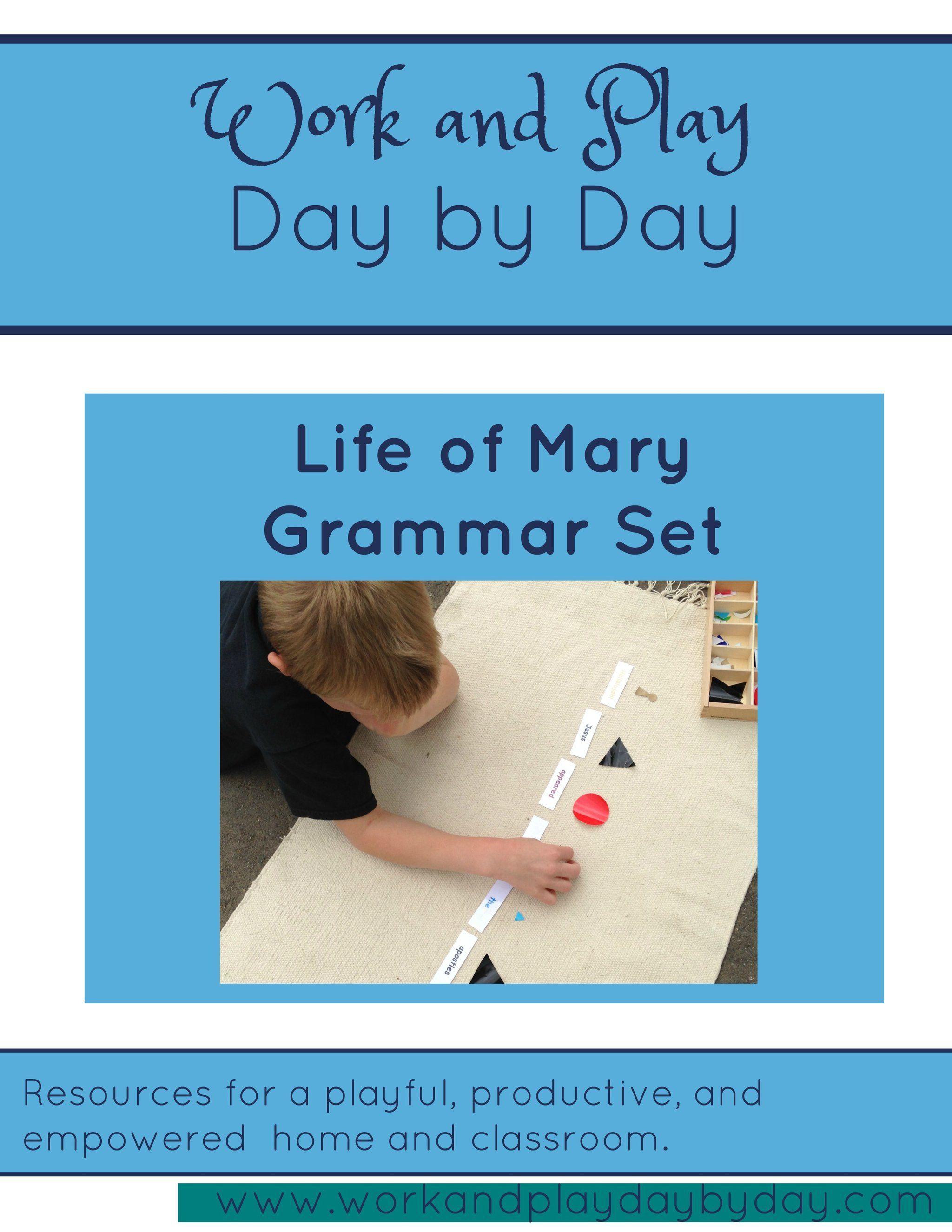 Montessori Grammar Set Life Of Mary