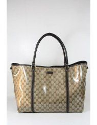 Gucci Handbags Large Beige Crystal (Coating) and Brown Leather 265696