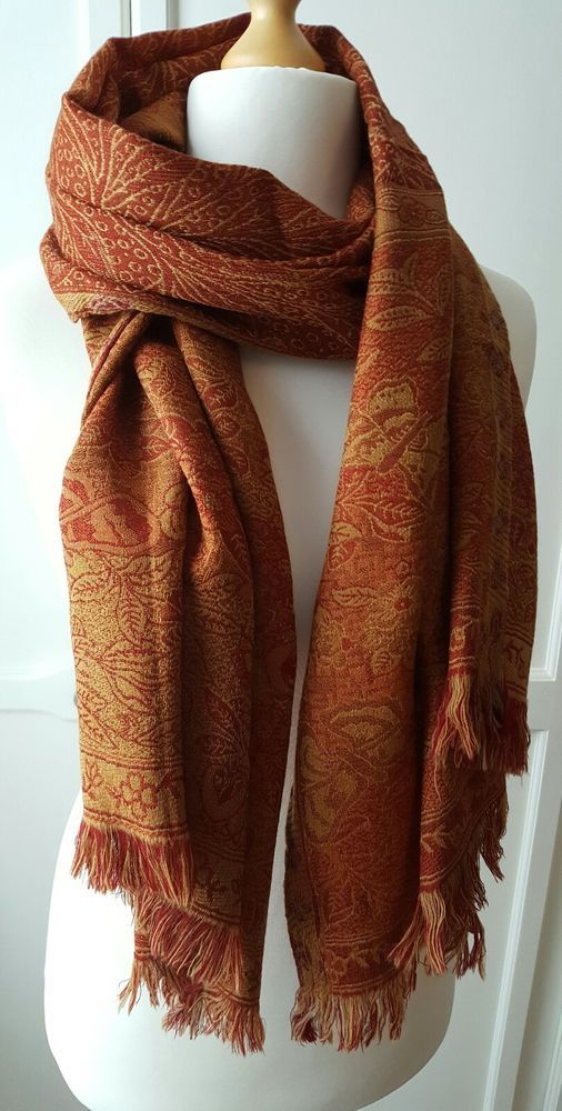 Bonheur Au Petrusse Paris Beautiful  Pure Wool stole, shawl, scarf VGC  | eBay #scarvesamp;shawls