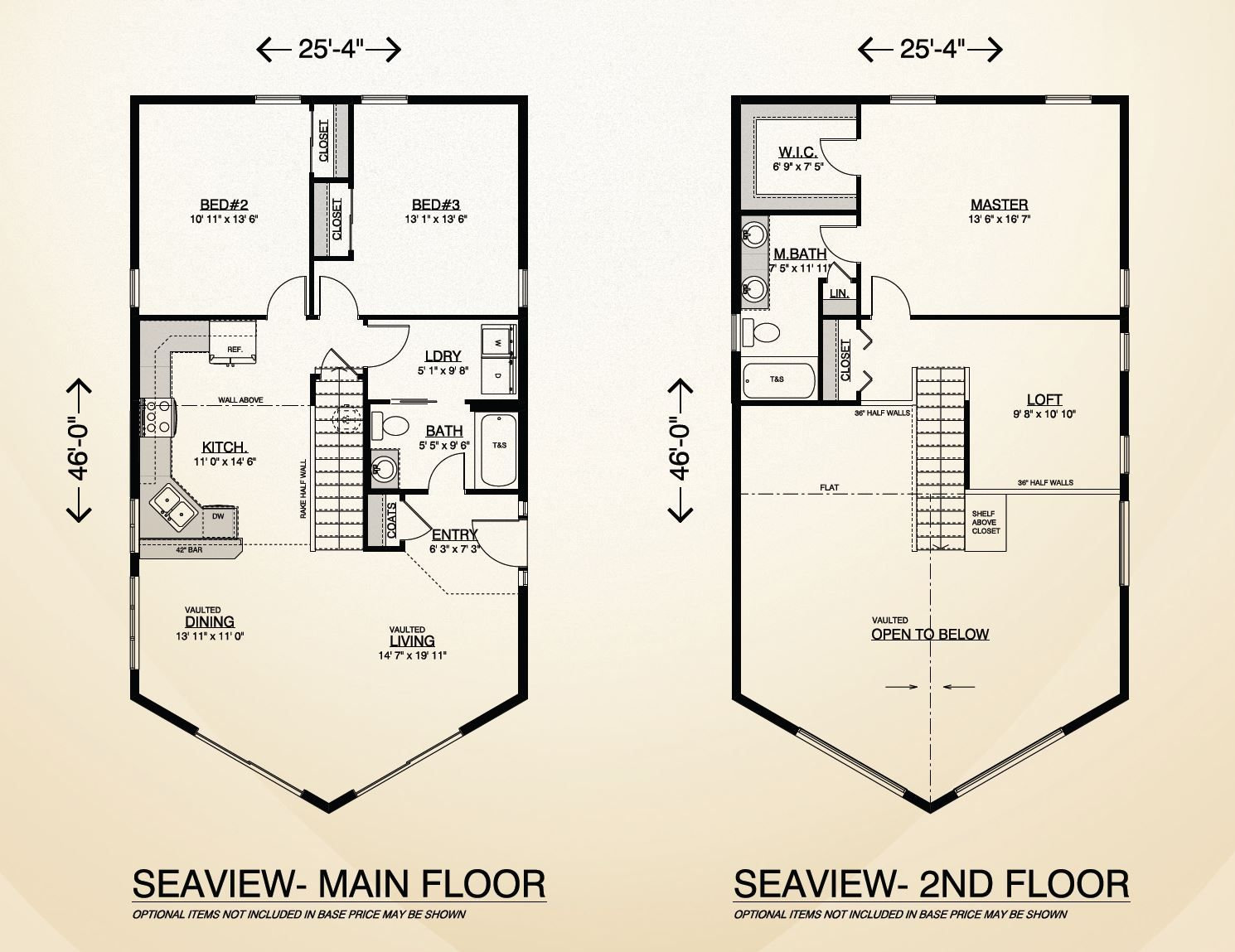 Seaview Home Plan Multi Level Two Story Home Built On Your Lot Fully Customizable Floor Plan With Quality Home Feat House Plans Floor Plans Two Story Homes