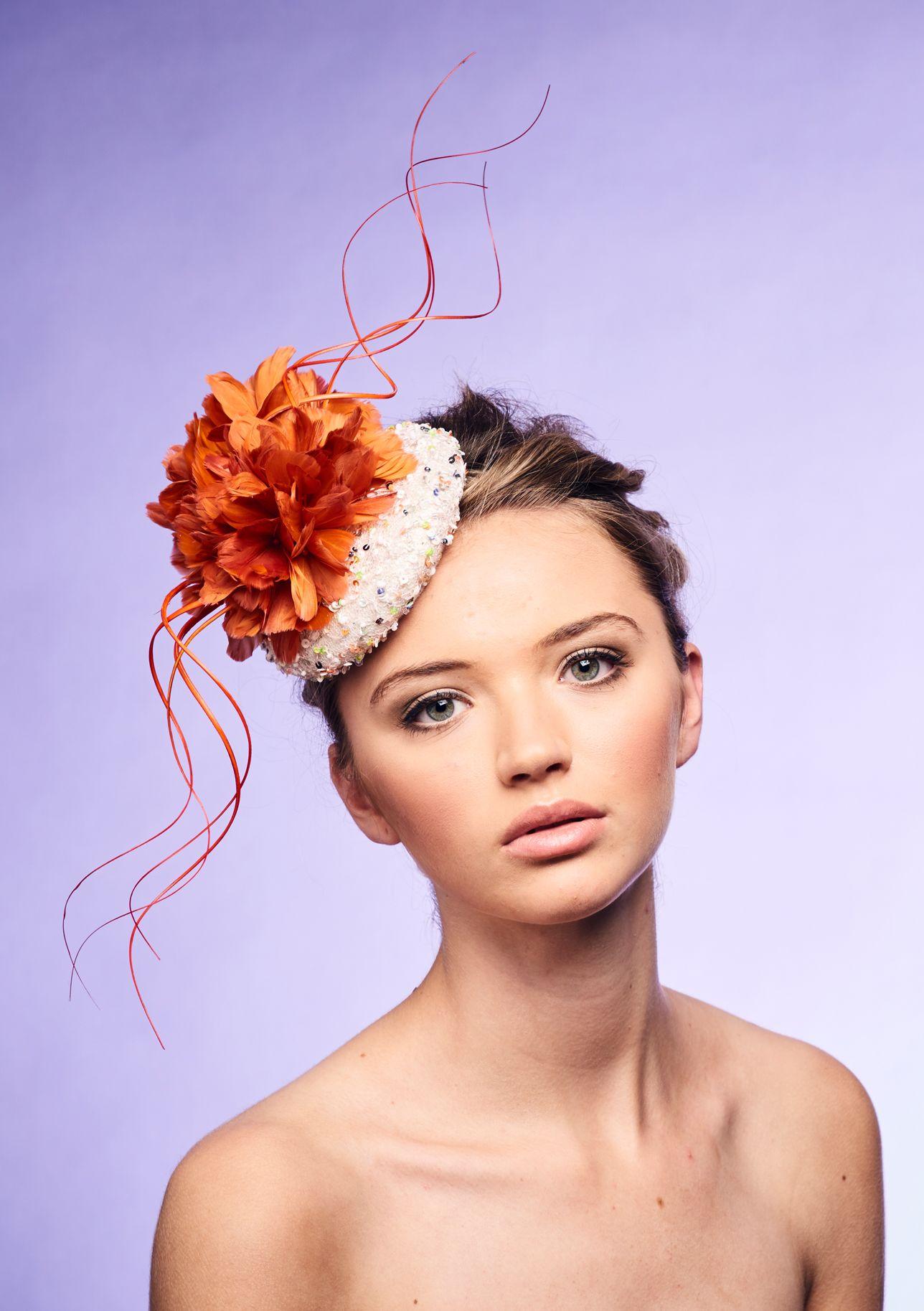 Hunter Green Wide Brim Women Hat Millinery Fur Felt   Hats