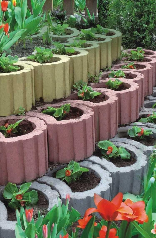 Gartenarbeitbeton Angewendet Auf Pflanzer In Den Landschaften Haus Dekoration Gartengestaltung Ideen Pflanzen Garten Bepflanzen