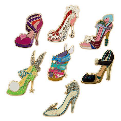 bb437c889ac Disney Divas Runway Shoe Pin Set | The Gift Shop | Disney princess ...