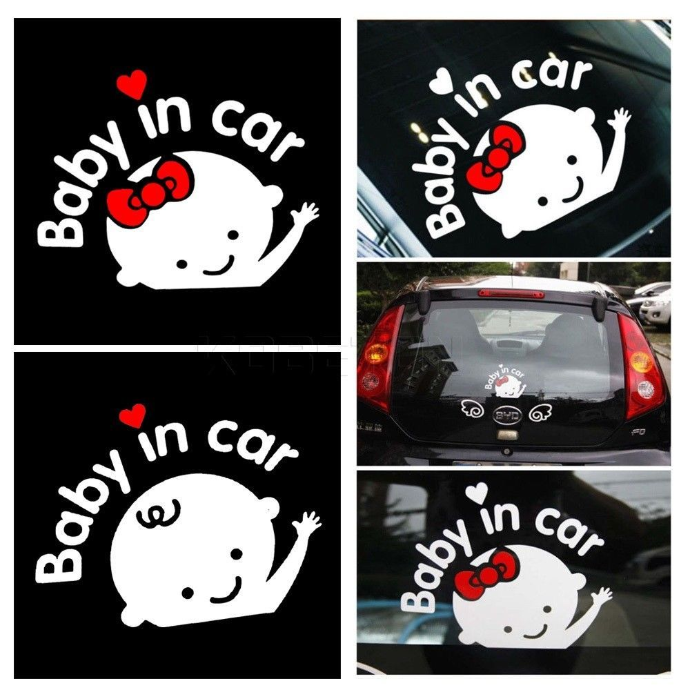 Car Styling Cartoon Car Stickers Vinyl Decal Baby On Board Baby In Car Window Vinyl Sticker Vinyl Decals Car Cartoon [ 1000 x 1000 Pixel ]