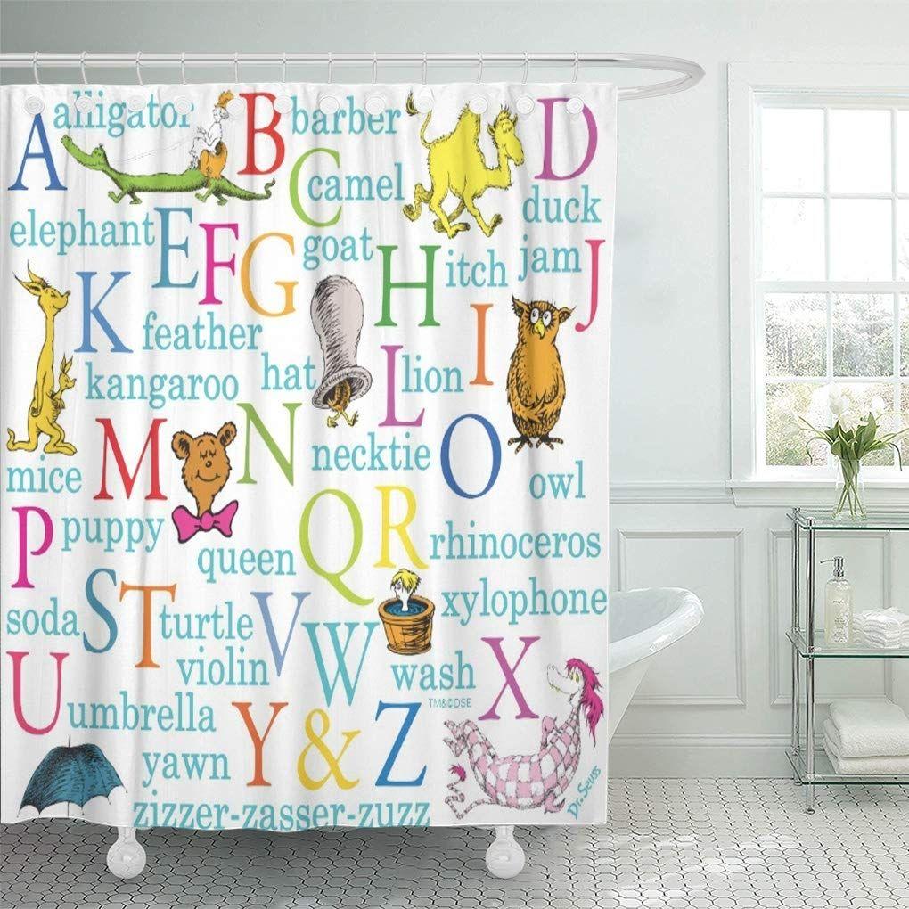 Colorful Alphabet Dr Seuss Abc Pattern Words Tote Book Shower