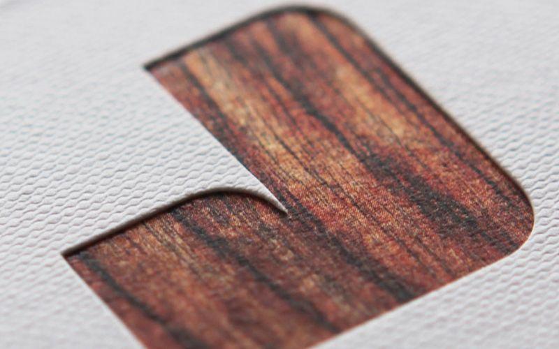 Jungle card - Die-cut, foil stamped and triplexed. wow.