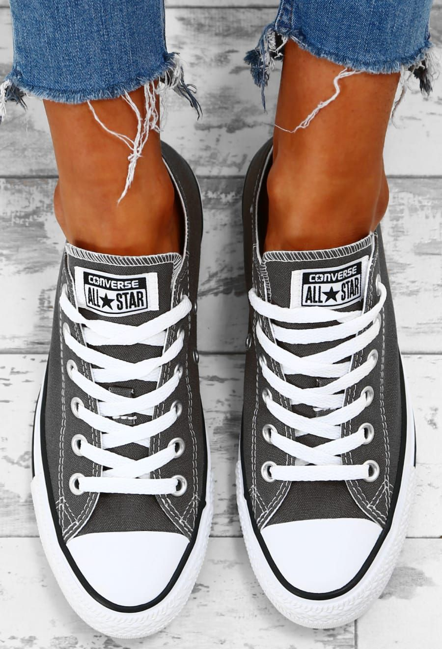 01968605ae0 Chuck Taylor Converse All Star Charcoal Trainers - UK 3