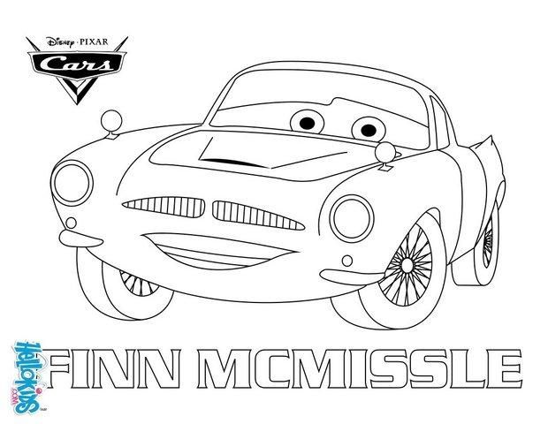 Color Finn Mcmissile A Coloring Page Of The Famous Disney Movie Cars Disney Coloring Pages Coloring Books Coloring Pages