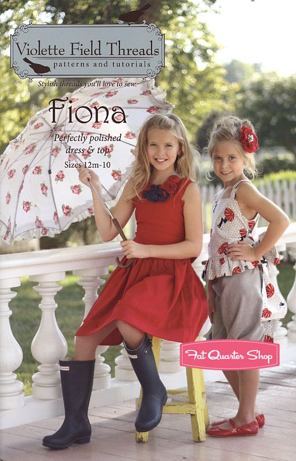 Fiona Dress and Top Pattern Violette Field Threads #VFT-008F - Fat Quarter Shop