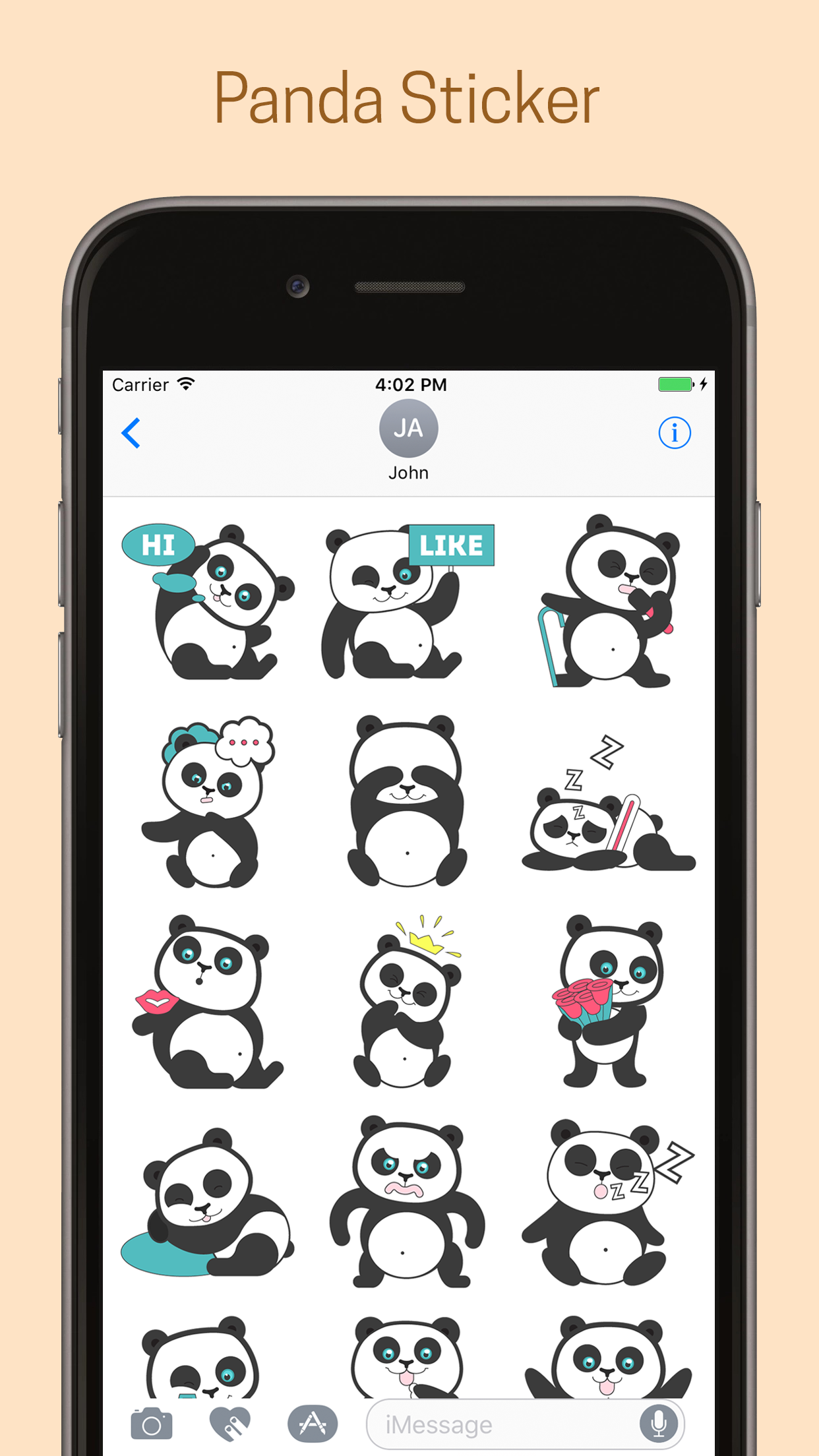 Panda Emoji Stickers - Pack #New #iMessage #iOS #App