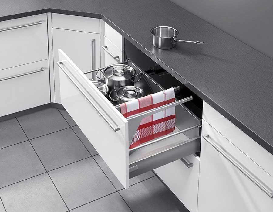 Kuche Handtuchhalter Geschirrtuchhalter Edelstahl Dass Integriert In Die Schubladen Hochglanz Weiss In 2020 Filing Cabinet Home Decor Decor