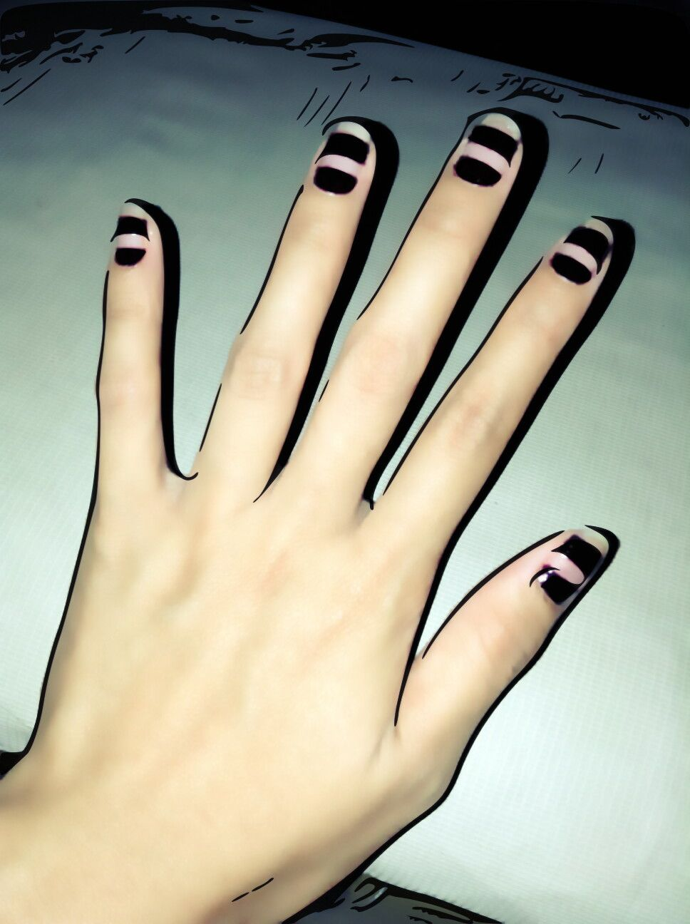 My nails with art.
