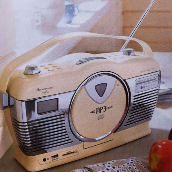 cool vintage radio cd player home is where our heart is pint. Black Bedroom Furniture Sets. Home Design Ideas