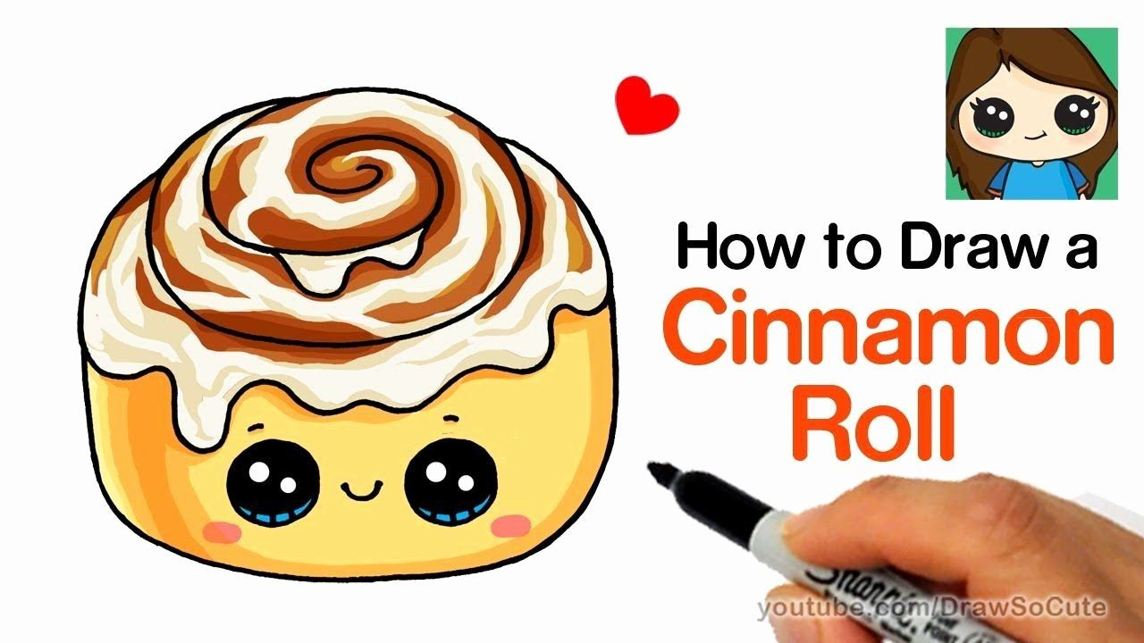 Cute Starbucks Coloring Pages Fresh How To Draw A Cinnamon Roll Cute And Easy Draw So Cute Food Easy Drawings For Kids Cute Drawings
