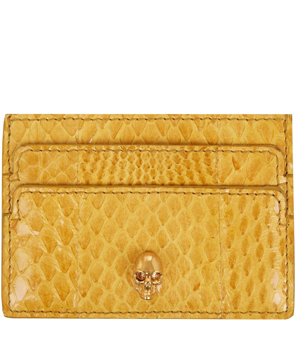 A perfect fit for her #LibertyLoyalty card, Alexander McQueen's yellow card holder. #LibertyChristmas #GiftsForHer