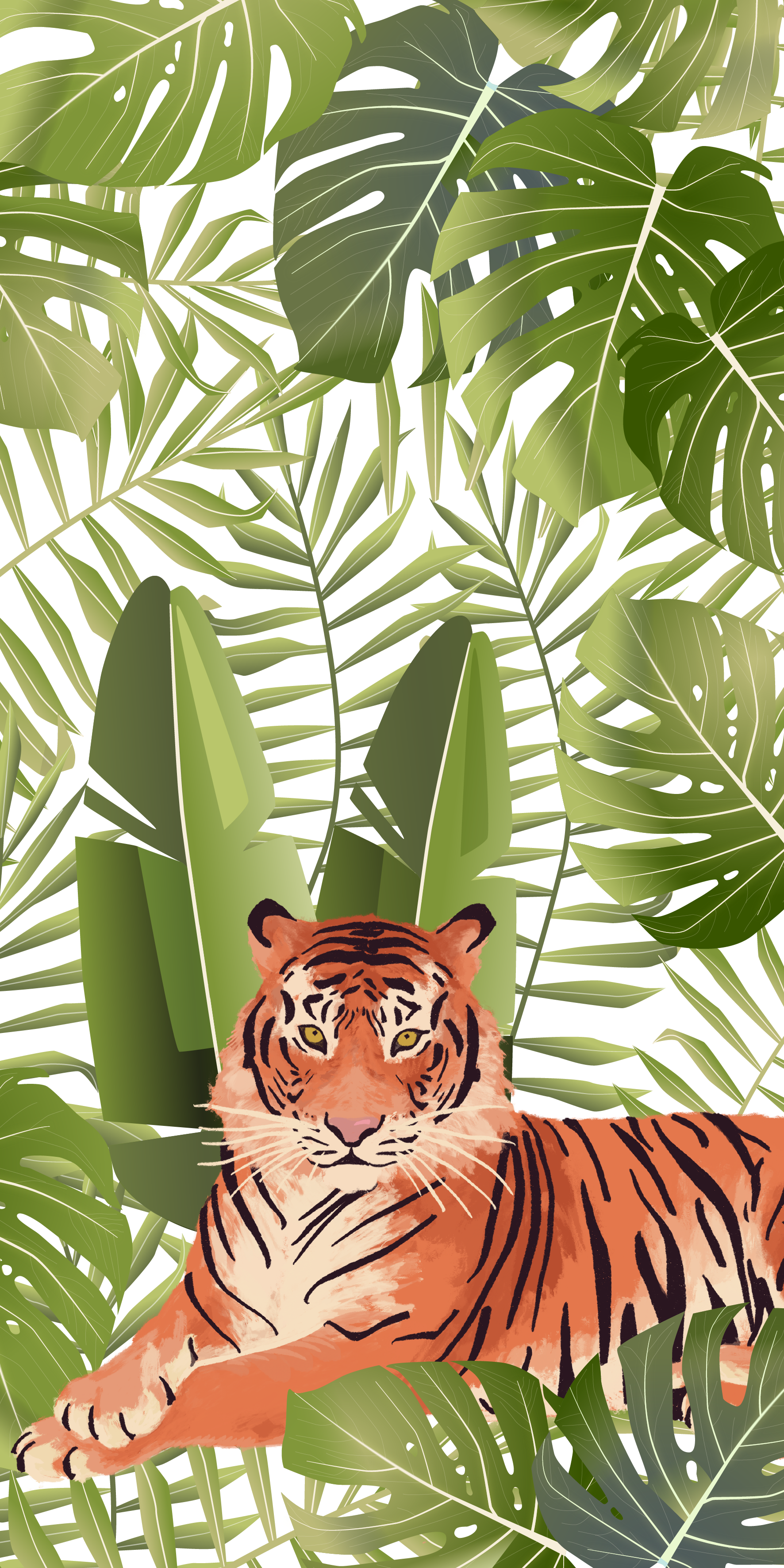 Tropical Jungle Tiger Casetify Iphone Art Design