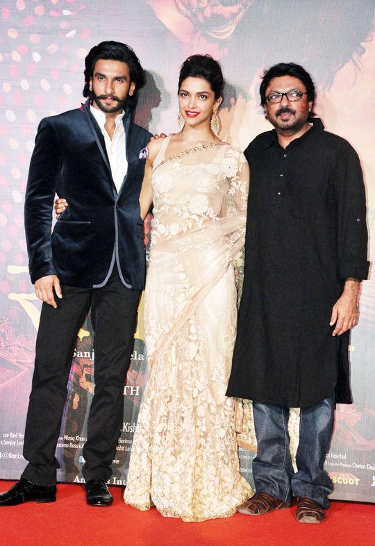 Deepika Ranveer Launch Ramleela Trailer Ranveer Singh Sanjay Leela Bhansali Deepika Padukone