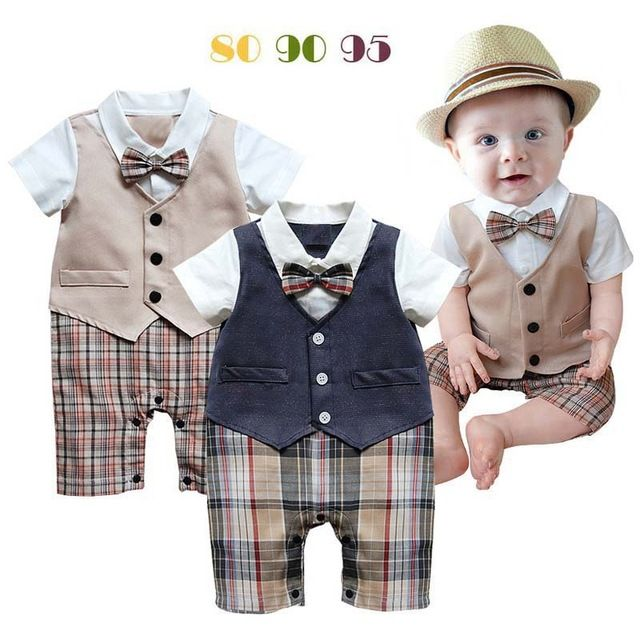 Special offer Infant wedding suit baby boy toddler 2 colors khaki ...