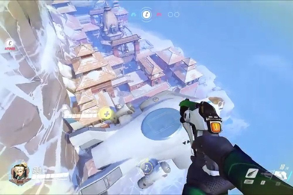 nice 'Overwatch' character Mercy applied to find glitch that opens up complete Nepal map