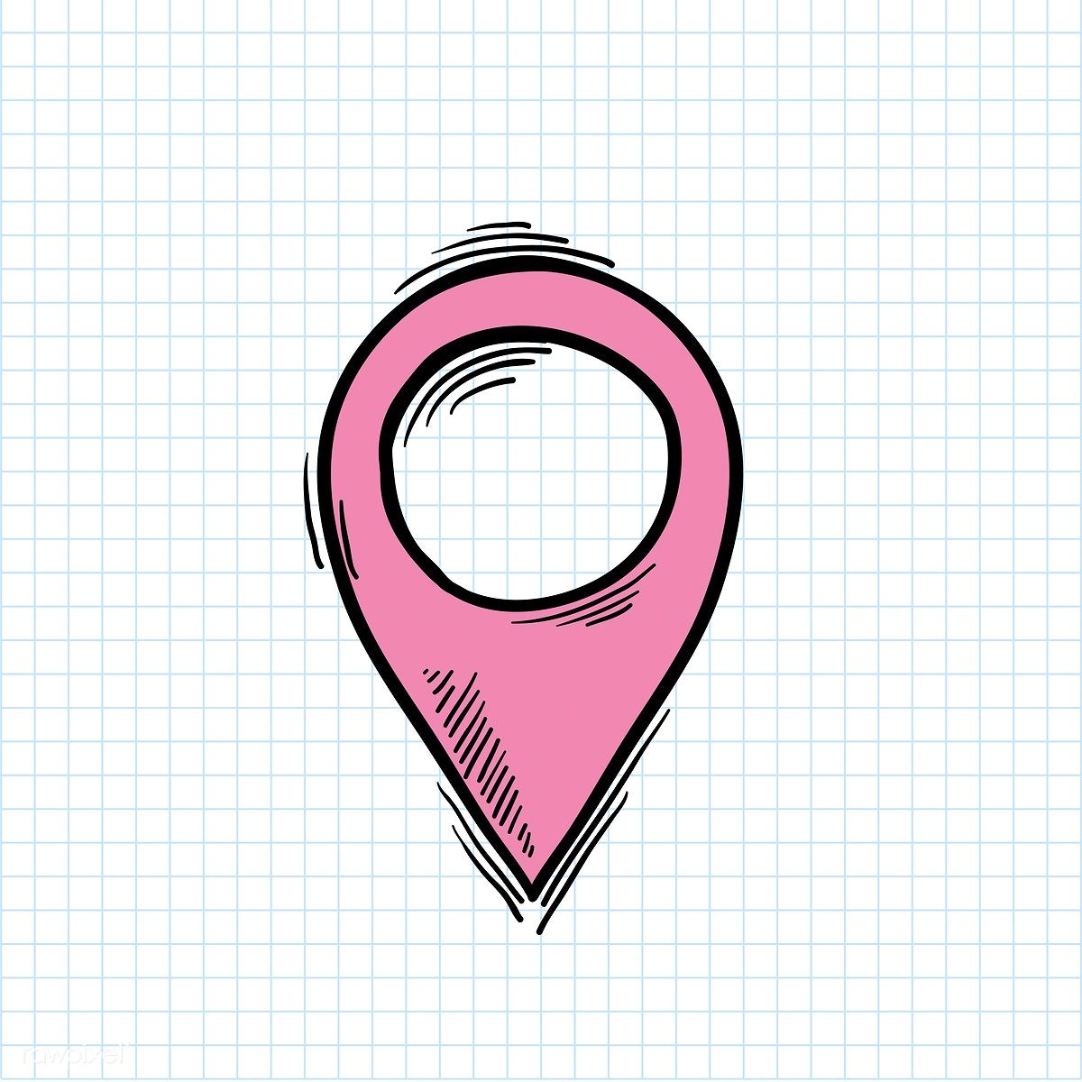 Illustration of location symbol isolated on background