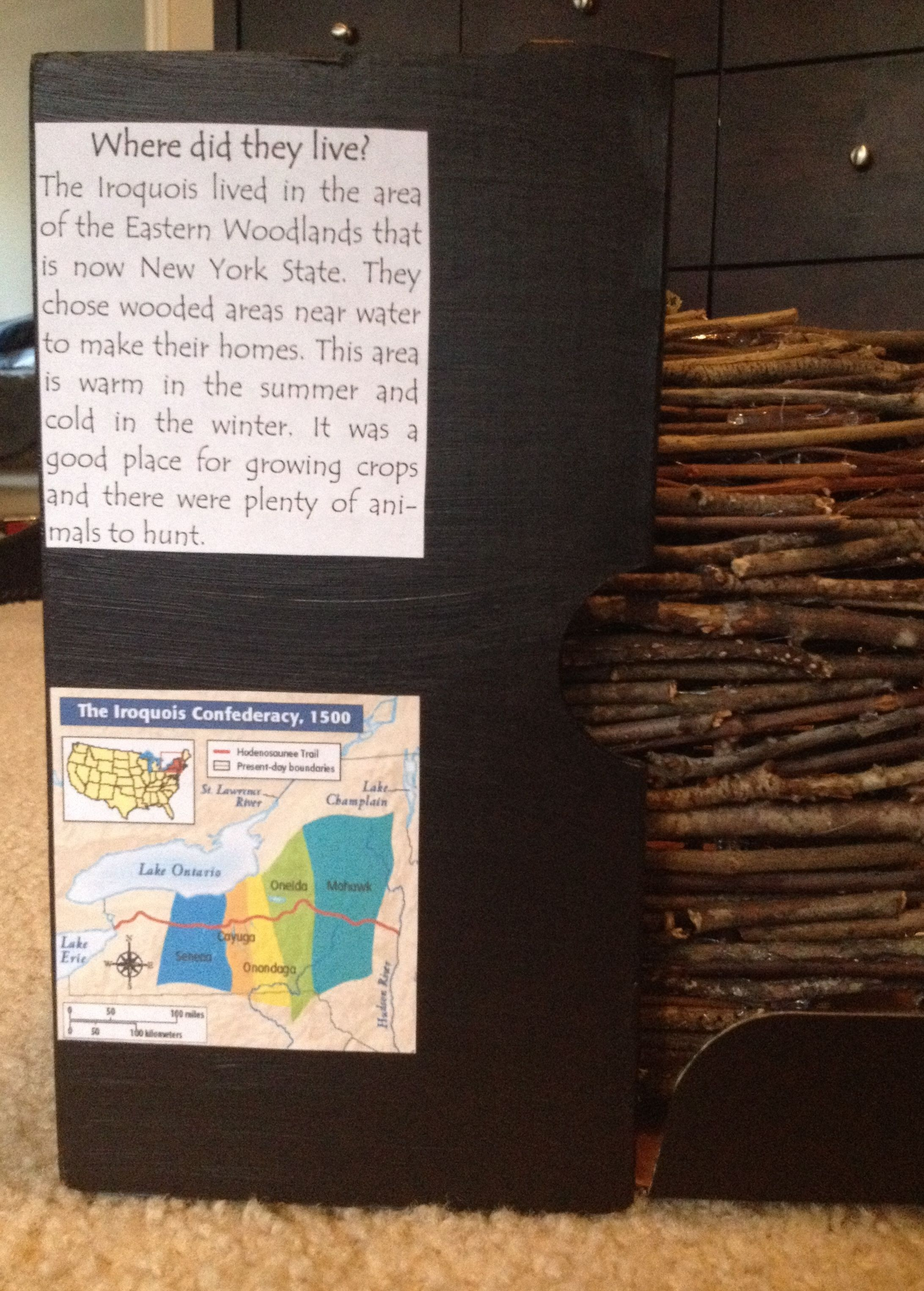 4th Grade Diorama Project Eastern Woodland Iroquois