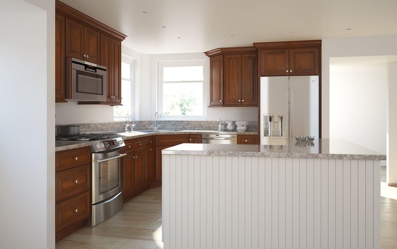 Cambridge Saddle Glaze Kitchen Cabinets Assembled Kitchen