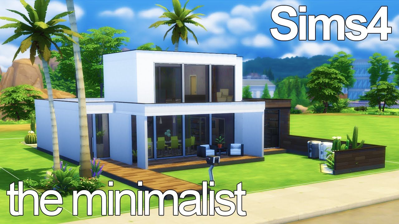 The Minimalist - Sims 25 Speed Build  Building, Minimalist, House