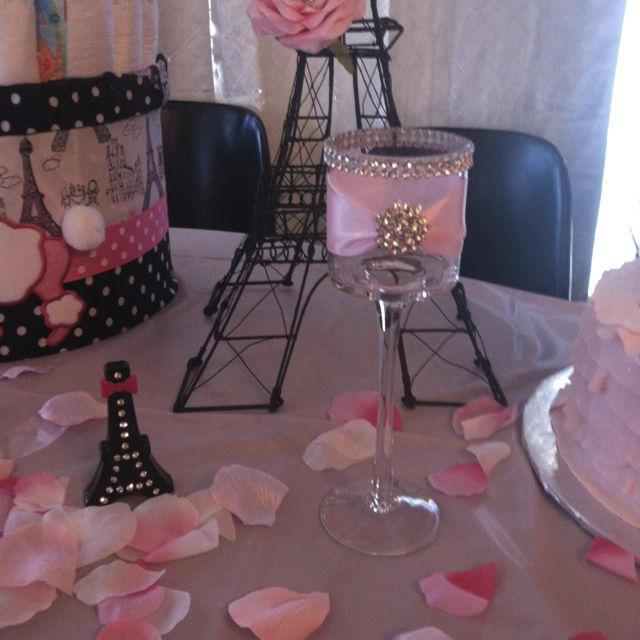 Paris Baby Shower Cake: Paris Theme Baby Shower