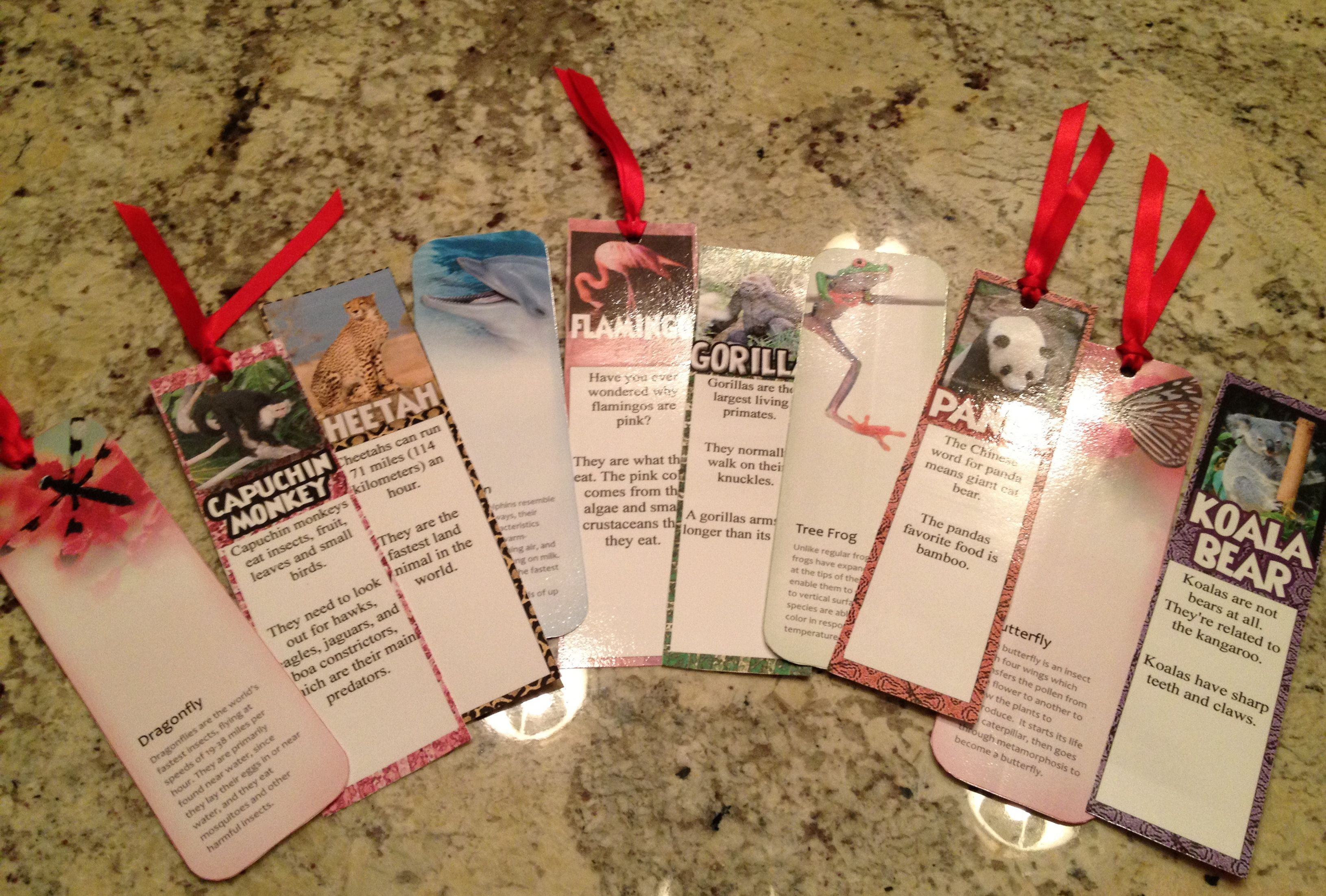 animal fact bookmarks from httpofficemicrosoftcomen