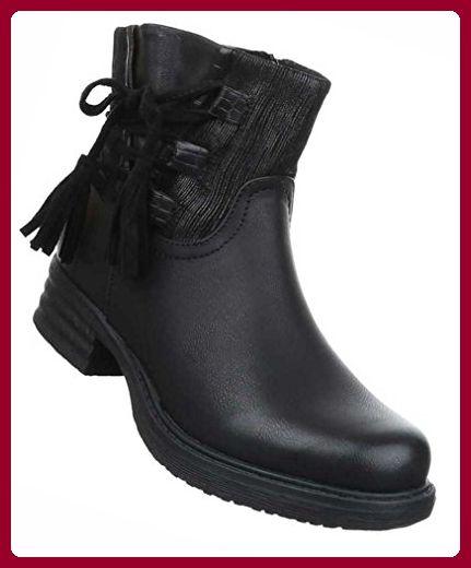 Kurzschaft-Stiefel Stiefeletten mit Reißverschluss gpvEa2