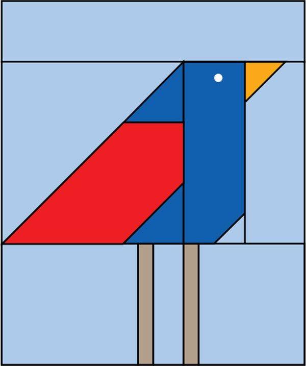 Free pattern: Bird block #birdfabric