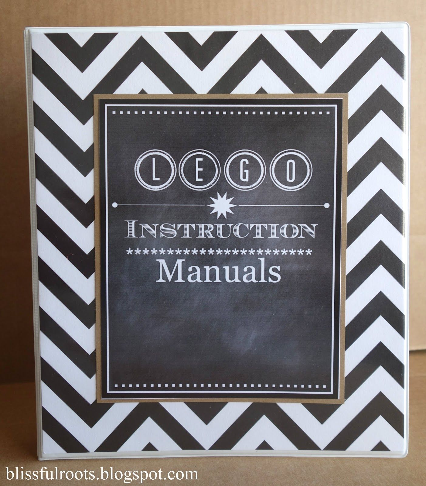 Cover Letter For Lego: Lego Instruction Manual Organizer & Free Cover Printable