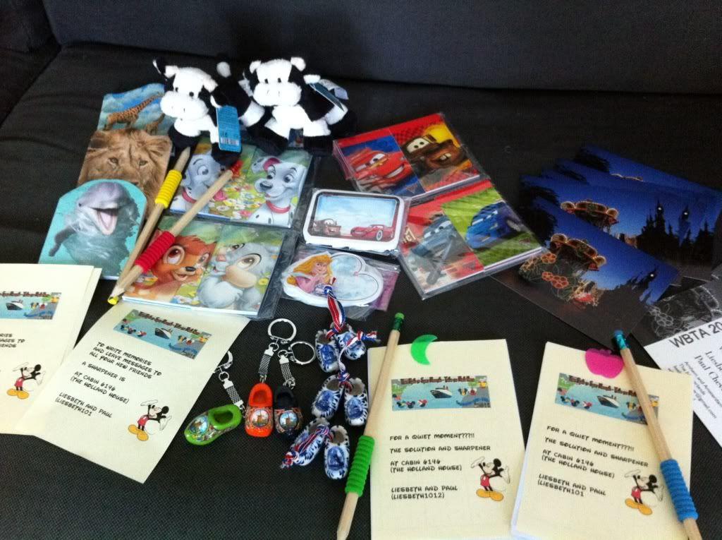 cadeautjes voor de FE members groep Castaway Cay