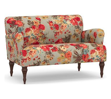 Hadley Upholstered Settee Furniture Pottery Barn