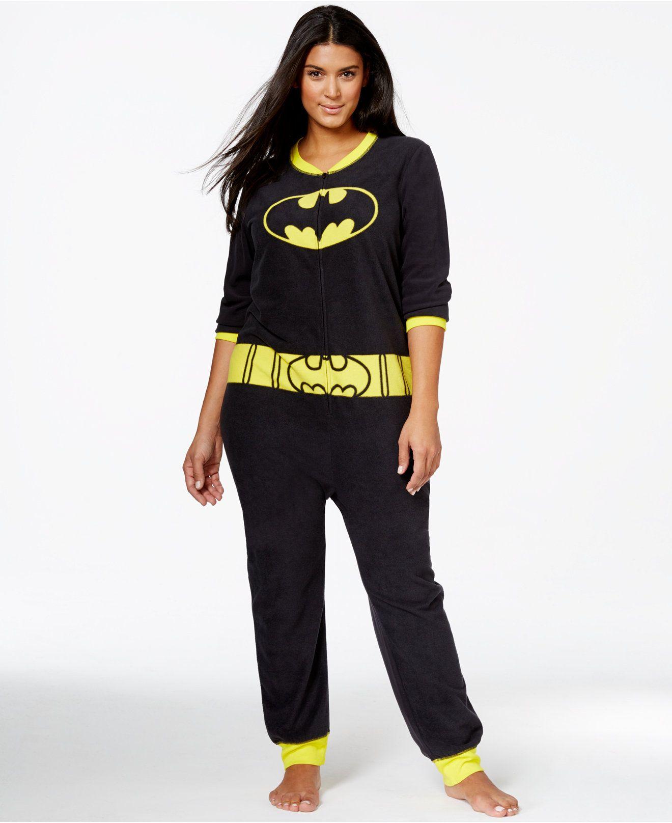 Batgirl Plus Size Adult Onesie - Pajamas   Robes - Plus Sizes - Macy s 6d96a4e7e3