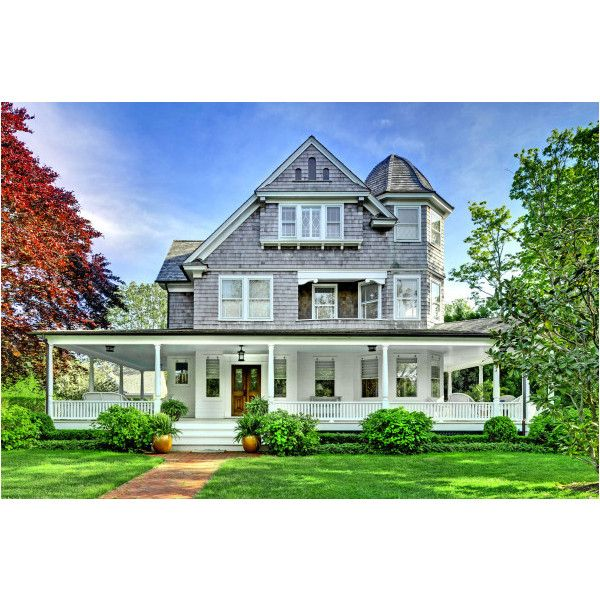 East Hampton NY 8 Bedroom Home For Sale South Of Highway - Brown... ❤ liked on Polyvore featuring backgrounds and houses