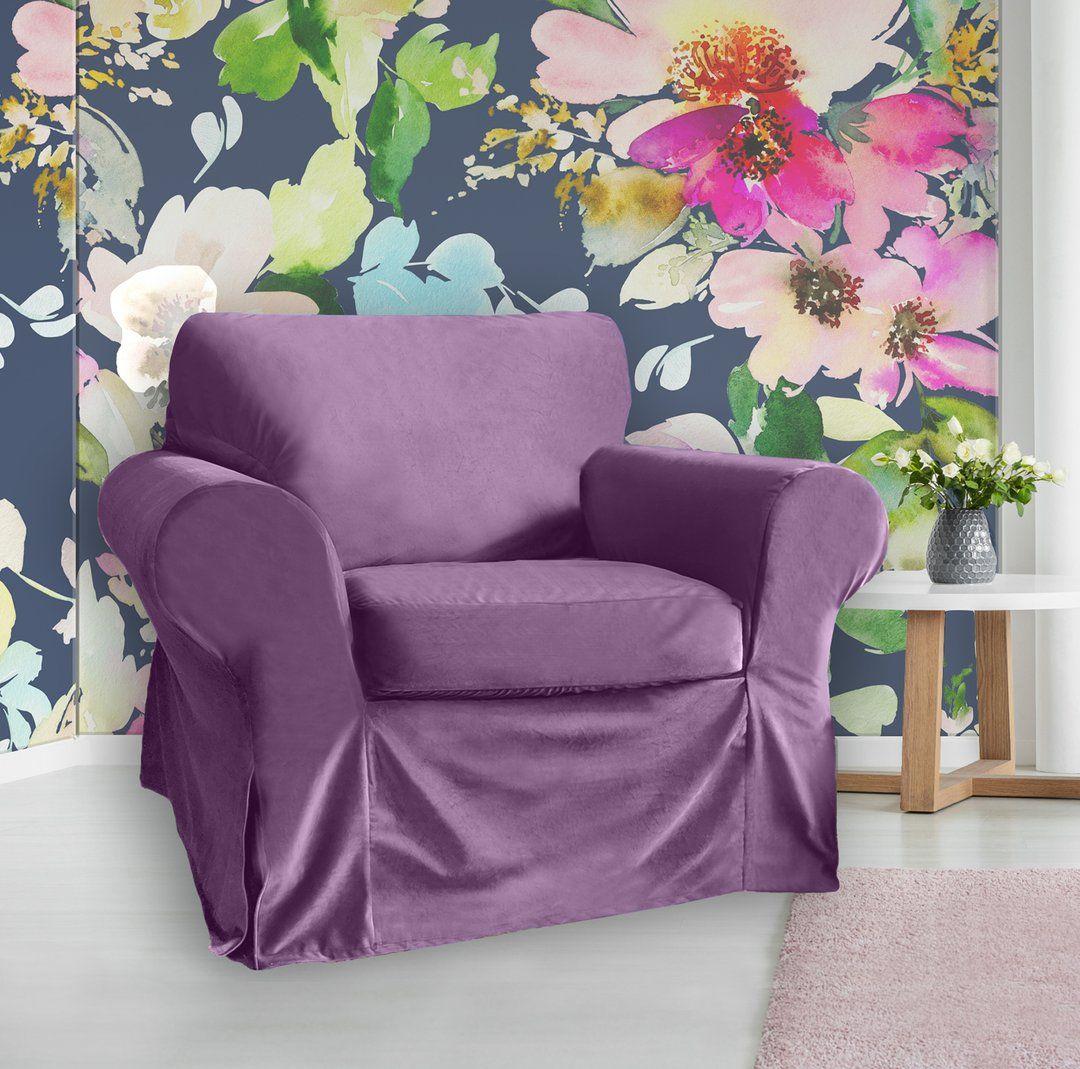 IKEA Ektorp Sofa Slipcover, Purple Velvet in 2020 Ikea