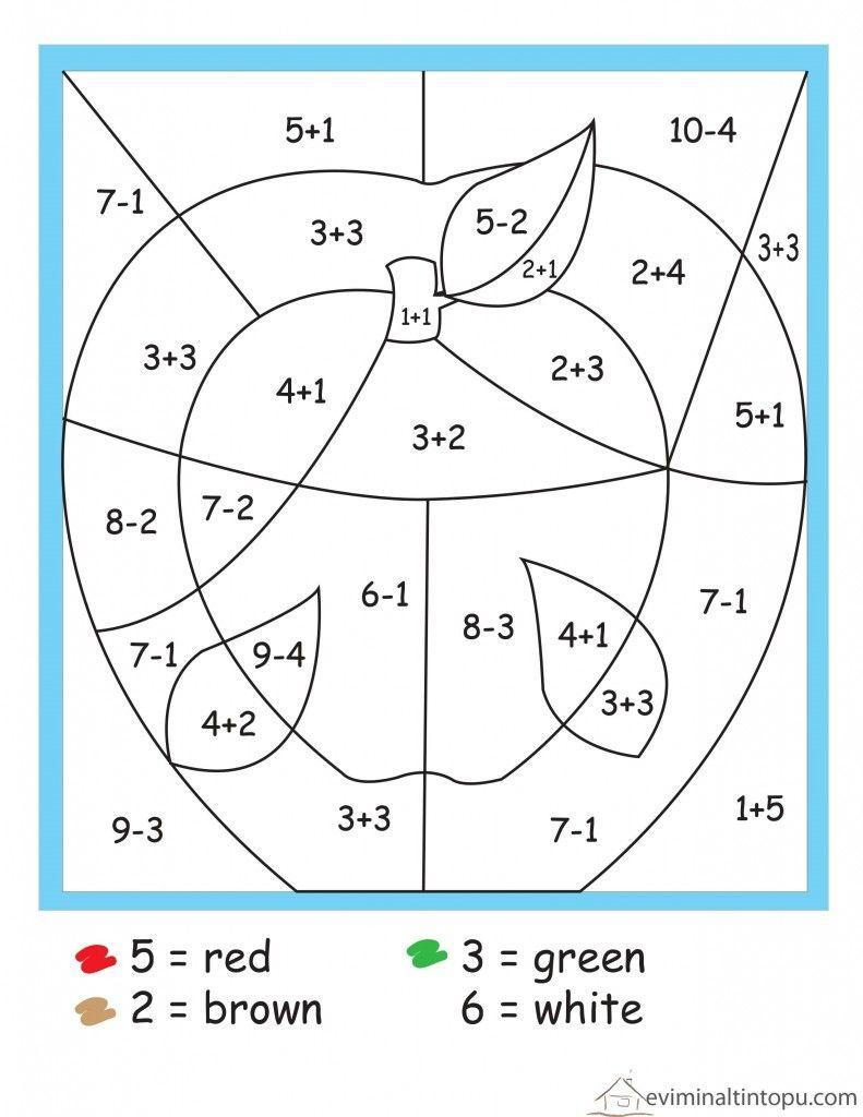 Matematik Boyama Calismalari Matematik Okul Toplama Ve Cikarma