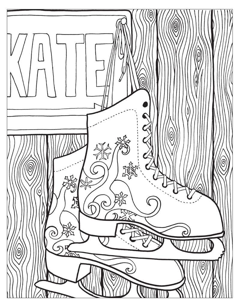 Zendoodle Coloring Winter Wonderland Coloring Book Shoes